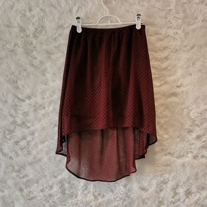 🌈3/$35 Garage High-Low Burgundy Skirt with Stars